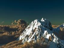 Paesaggio alpino drammatico Immagine Stock