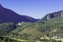 Paesaggio alpino in Francia sudorientale Immagini Stock Libere da Diritti