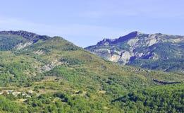 Paesaggio alpino in Francia sudorientale Fotografia Stock