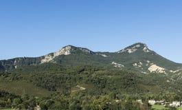 Paesaggio alpino in Francia sudorientale Fotografie Stock