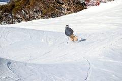 Paesaggio alpino innevato al crepuscolo Fotografia Stock Libera da Diritti
