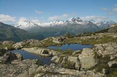 Paesaggio alpino maestoso Fotografie Stock