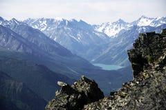Paesaggio alpino in montagne di Altai, luglio 2016 Fotografia Stock Libera da Diritti
