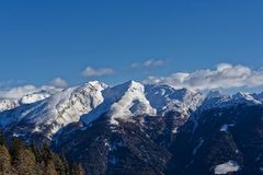 Paesaggio alpino nel Tirolo del sud fotografia stock libera da diritti