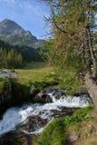 Paesaggio alpino nelle alpi marittime Piemonte, Italia Immagini Stock Libere da Diritti