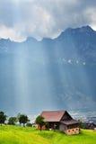 Paesaggio alpino sbalorditivo nel cantone Uri, Svizzera Fotografie Stock