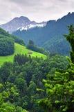 Paesaggio alpino sbalorditivo nel cantone Uri, Svizzera Immagini Stock