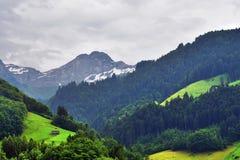 Paesaggio alpino sbalorditivo nel cantone Uri, Svizzera Immagine Stock