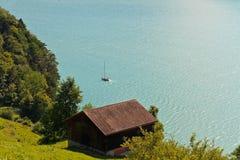 Paesaggio alpino svizzero (Vierwaldstättersee) Immagini Stock