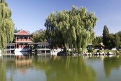Paesaggio antico del giardino della Cina Fotografie Stock