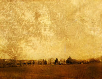 Paesaggio antiquato Immagini Stock