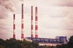 Paesaggio antropogenico - centrale elettrica del distretto dello stato Regione di Rostov, Novocerkassk, Russia Immagini Stock