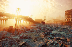 Paesaggio apocalittico fotografie stock