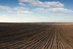 Paesaggio arato del campo Immagini Stock Libere da Diritti