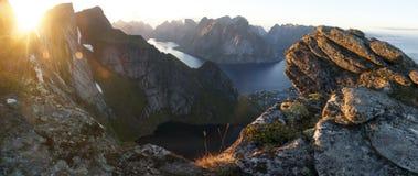 Paesaggio artico: Reine, isole di Lofoten II Immagine Stock Libera da Diritti