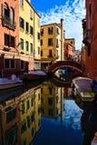 Paesaggio artistico a Venezia Rotazione rosso-cupo di Digitahi art immagine stock