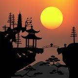 Paesaggio asiatico Fotografia Stock