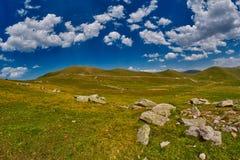 Paesaggio astratto ad alta altitudine della montagna Immagini Stock Libere da Diritti