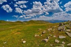 Paesaggio astratto ad alta altitudine della montagna Immagini Stock