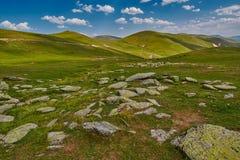 Paesaggio astratto ad alta altitudine della montagna Fotografia Stock