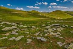 Paesaggio astratto ad alta altitudine della montagna Immagine Stock Libera da Diritti