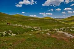 Paesaggio astratto ad alta altitudine della montagna Fotografie Stock Libere da Diritti