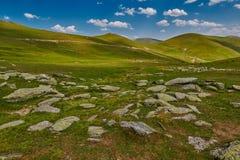 Paesaggio astratto ad alta altitudine della montagna Fotografie Stock