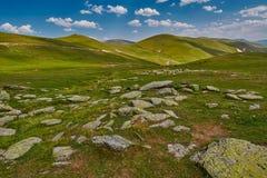 Paesaggio astratto ad alta altitudine della montagna Fotografia Stock Libera da Diritti