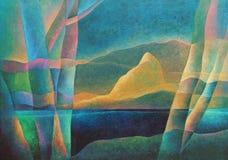 Paesaggio astratto 60, arte digitale da Afonso Farias & Denilson Bedin illustrazione di stock
