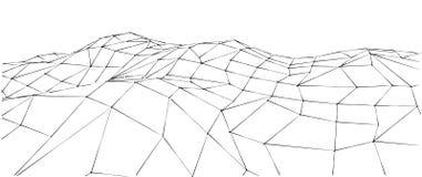 Paesaggio astratto della montagna nello stile poligonale di origami Immagine Stock