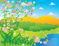 Paesaggio astratto della natura Immagine Stock