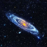 Paesaggio astratto dello spazio con una galassia a spirale Immagini Stock Libere da Diritti