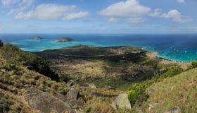 Paesaggio australiano Isola della lucertola, la Grande barriera corallina, Queensland, Australia fotografia stock