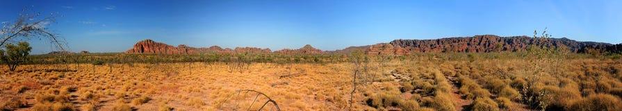 Paesaggio australiano panoramico con la caratteristica geologica del rollin Immagini Stock Libere da Diritti