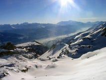 Paesaggio Austria della neve della montagna Fotografia Stock