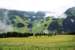 Paesaggio austriaco di estate in montagne delle alpi Fotografia Stock Libera da Diritti