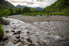 Paesaggio autentico Kyle Glenshiel Hiking Trail degli altopiani della natura fotografia stock libera da diritti