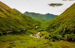 Paesaggio autentico Kyle Glenshiel Hiking Trail degli altopiani della natura immagine stock