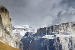 Paesaggio autunnale delle alpi italiane, dolomia Fotografia Stock Libera da Diritti