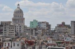 Paesaggio Avana, Cuba dall'hotel Duville Fotografia Stock Libera da Diritti