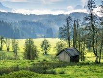 Paesaggio bavarese Allgau Fotografia Stock Libera da Diritti