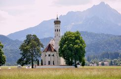 Paesaggio bavarese, Germania, Monaco di Baviera, tempo di autunno intorno a Oktoberf fotografia stock