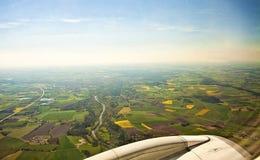 Paesaggio bavarese, vista aerea panoramica Immagine Stock