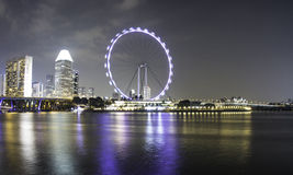 Paesaggio a Bayfront a Singapore Immagine Stock Libera da Diritti