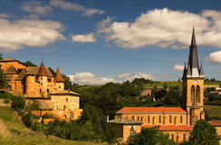 Paesaggio Beaujolais Immagine Stock