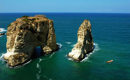 Paesaggio a Beirut Libano Fotografia Stock Libera da Diritti