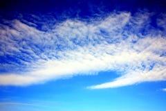 Paesaggio-belle nuvole bianche Fotografia Stock Libera da Diritti