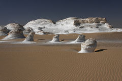 Paesaggio bianco del deserto Immagini Stock Libere da Diritti