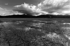 Paesaggio in bianco e nero Fotografia Stock