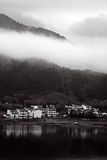 Paesaggio in bianco e nero Fotografie Stock